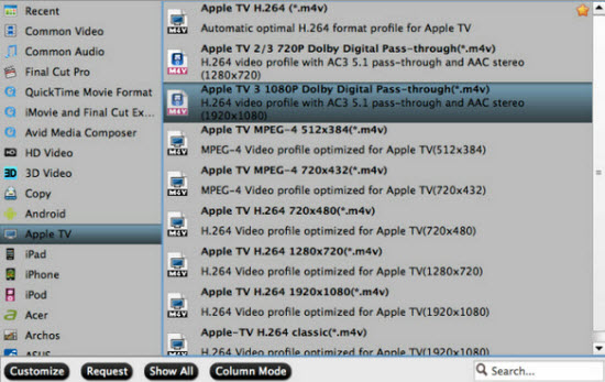 apple tv video format