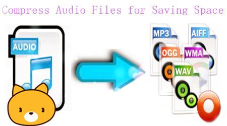 Compress Audio files for Saving Space on Your Computer/Device/Web
