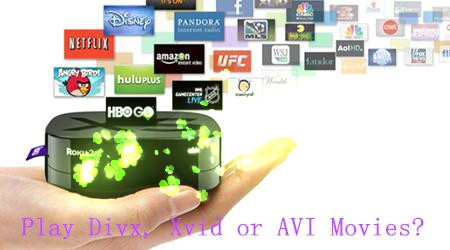 play xvid video on roku 3