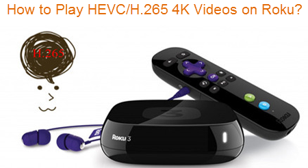 How to Stream H.265/HEVC 4K videos to Roku 3, 2, 1 for sharing?