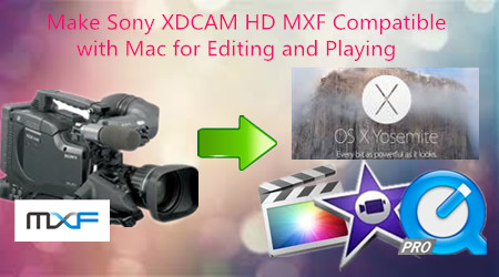 Make Sony XDCAM HD MXF Compatible for Editing/Playing on Mac