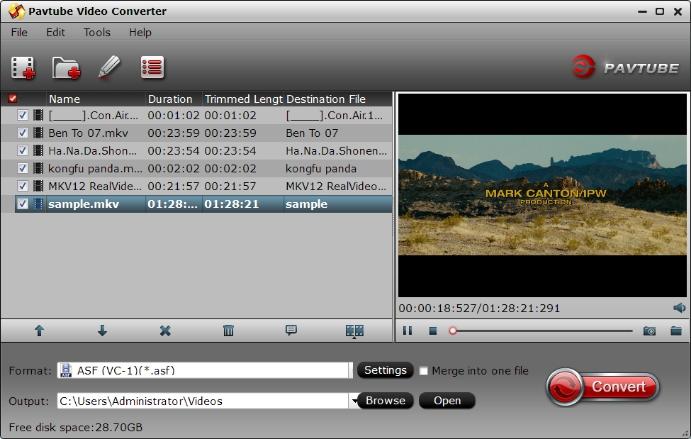 Add MKV with AC3 audio codec files
