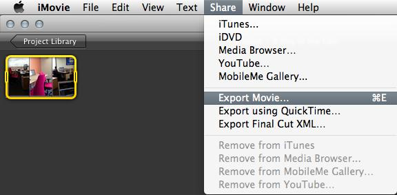 Export rotate video