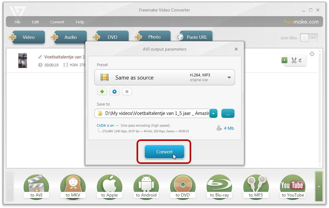 Rotate video with freemake video converter