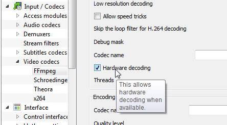 Check hardware decoding box