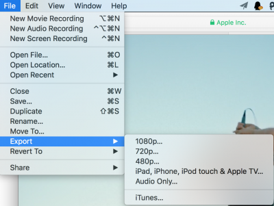 Edit video with QuickTime Player 3