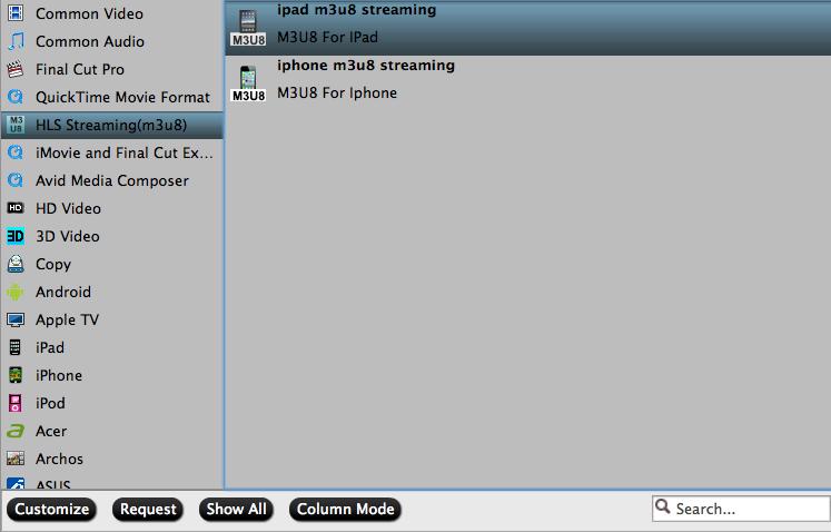 output M3U8 format